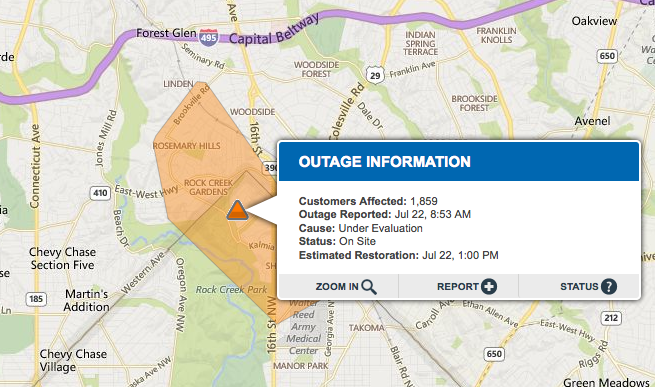 Power Outage Map Al.Update Power Outage Hits Silver Spring Neighborhood For Second Time