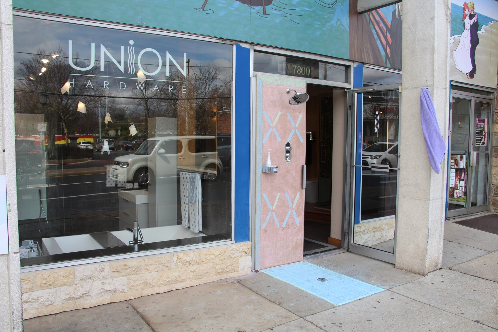 Union Hardware Sets Up Whimsical Outdoor Shower Display To Replace