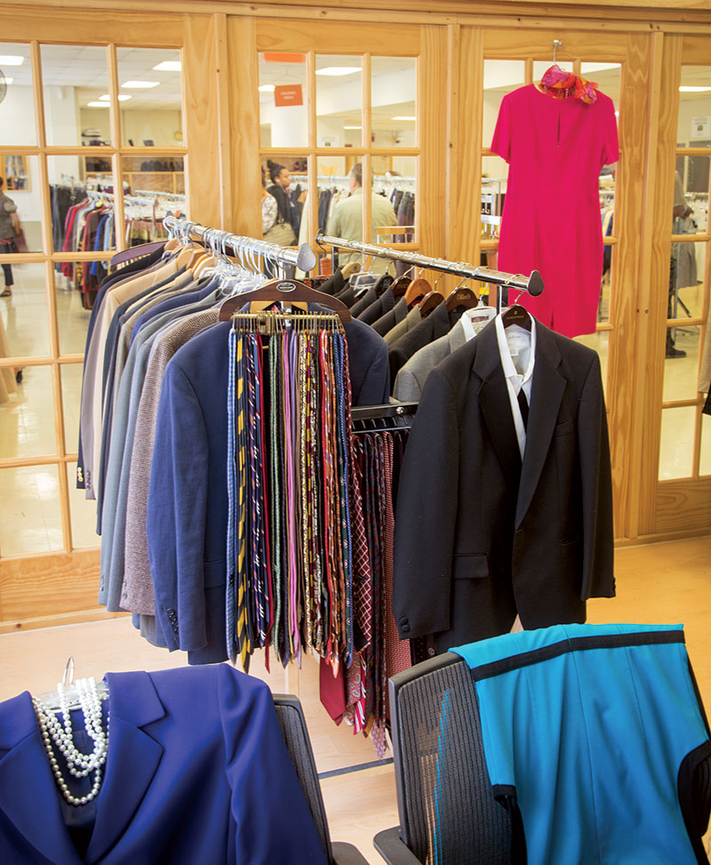 6ba120159 A new boutique within Interfaith Works offers business attire for people  who have interviews or office jobs. Photo by Skip Brown
