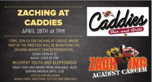 Zaching Against Cancer Fundraiser! @ Caddies on Cordell | bethesda | MD | United States