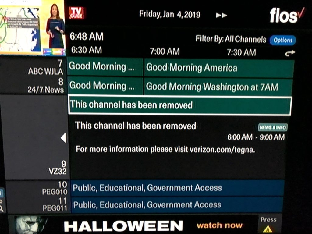 Verizon Returns CBS Station to Montgomery Cable Lineup