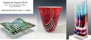 Visions & Voices Art Glass Exhibit at Glen Echo @ The Popcorn Gallery at Glen Echo Park