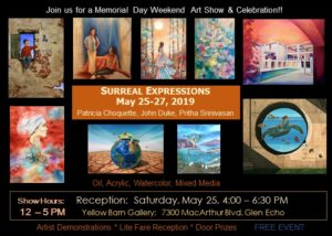 Surreal Expressions Art Exhibit @ Yellow Barn Gallery