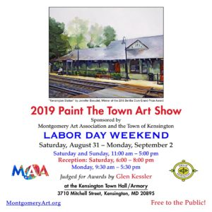 "Kensington ""Paint the Town"" Labor Day Weekend 2019 MAA Art Show @ Kensington Town Hall"