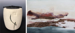 Line of Sight:  Paintings by Rebecca Coffin Anderson Ceramics by Jennifer Quie Coffin @ Waverly Street Gallery