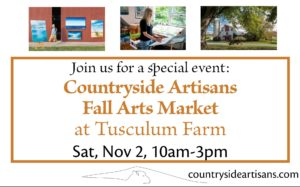 Countryside Artisans Fall Arts Market at Tusculum Farm @ Tusculum Farm