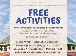 FREE Activities for Families at Glen Echo Park @ Glen Echo Park