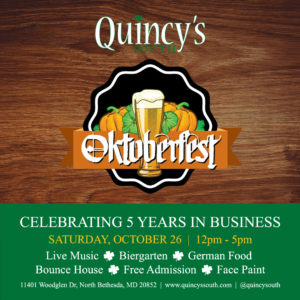 Quincy's South Oktoberfest @ Quincy's South