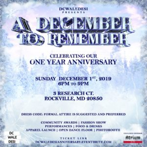 A December to Remember: Celebrating DCWaleDesi's First Anniversary @ Atrium by Silk Banquet Hall |  |  |