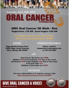 DMV Oral Cancer Foundation 5k walk/run @ Sligo-Dennis Avenue Park |  |  |