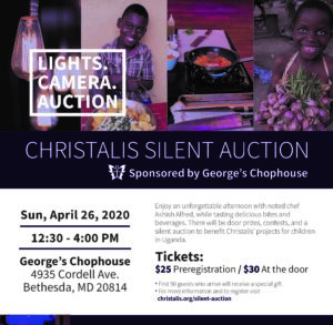 Lights Camera Auction! Fundraiser for kids in Uganda @ George's Chophouse