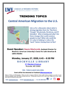 Central American Migration to the U.S. @ Rockville Library