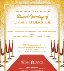 Tribute at Black Hill Grand Opening Celebration @ Tribute at Black Hill |  |  |
