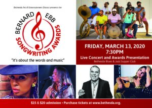 6th Annual Bernard/Ebb Songwriting Awards @ Bethesda Blues & Jazz Supper Club |  |  |
