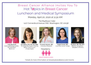 Breast Cancer Alliance (BCA) Hot Topics in Breast Cancer @ The Mayflower Hotel