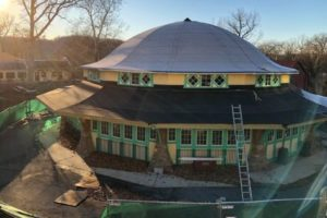 Roof for carousel