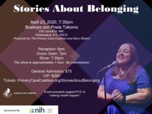 Stories About Belonging @ Busboys and Poets Takoma | | |