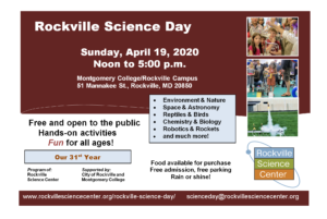 Rockville Science Day @ Montgomery College | | |
