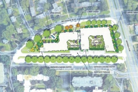 Developer proposes five-story complex to replace aging Silver Spring apartments