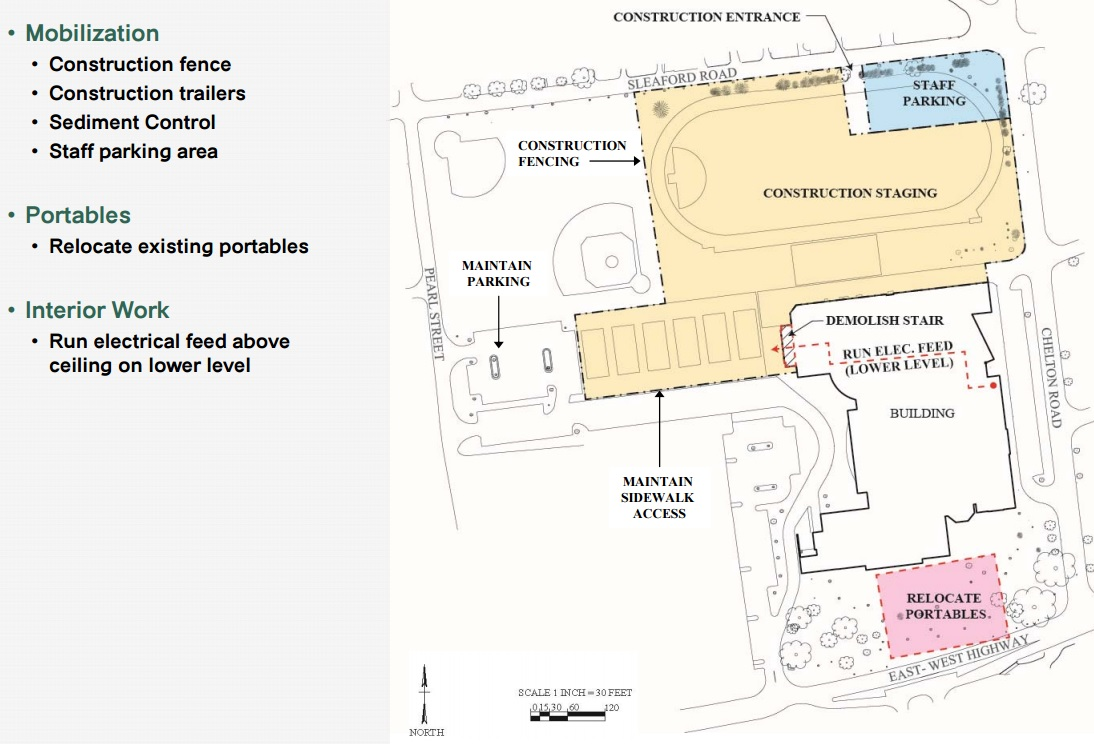 Bethesda chevy chase high school set for incredibly complex construction layout for first phase of project starting in june via mcps malvernweather Gallery