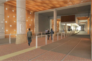 Rendering of the Bethesda Purple Line station, via Maryland Transit Administration