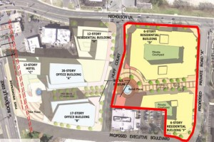 North Bethesda Gateway plan now, via Montgomery County Planning Department