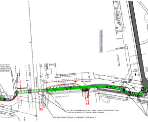 Concept plan for CCT Surface Trail across Wisconsin Avenue, Via MCDOT