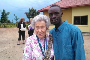 Margit Meissner, a longtime Bethesda resident, educator and Holocaust survivor, visit's Rwanda in April during the country's commermoration of the Rwandan genocide, photo via Margit Meissner