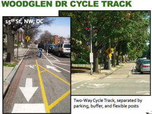 15th Street cycle track in D.C., via MCDOT