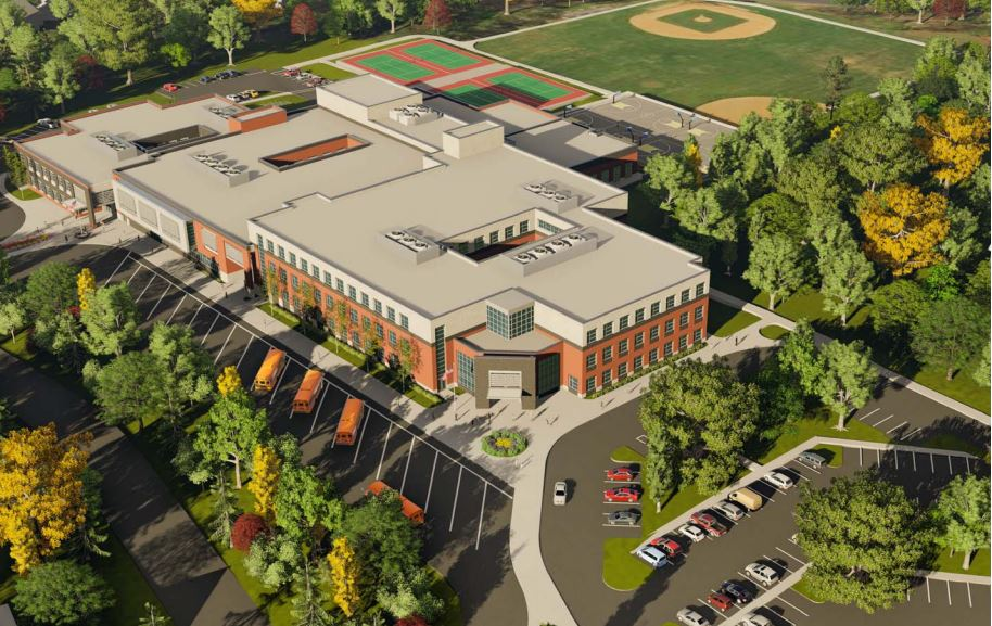 Architect presents initial drawings of new tilden middle for Terrace school