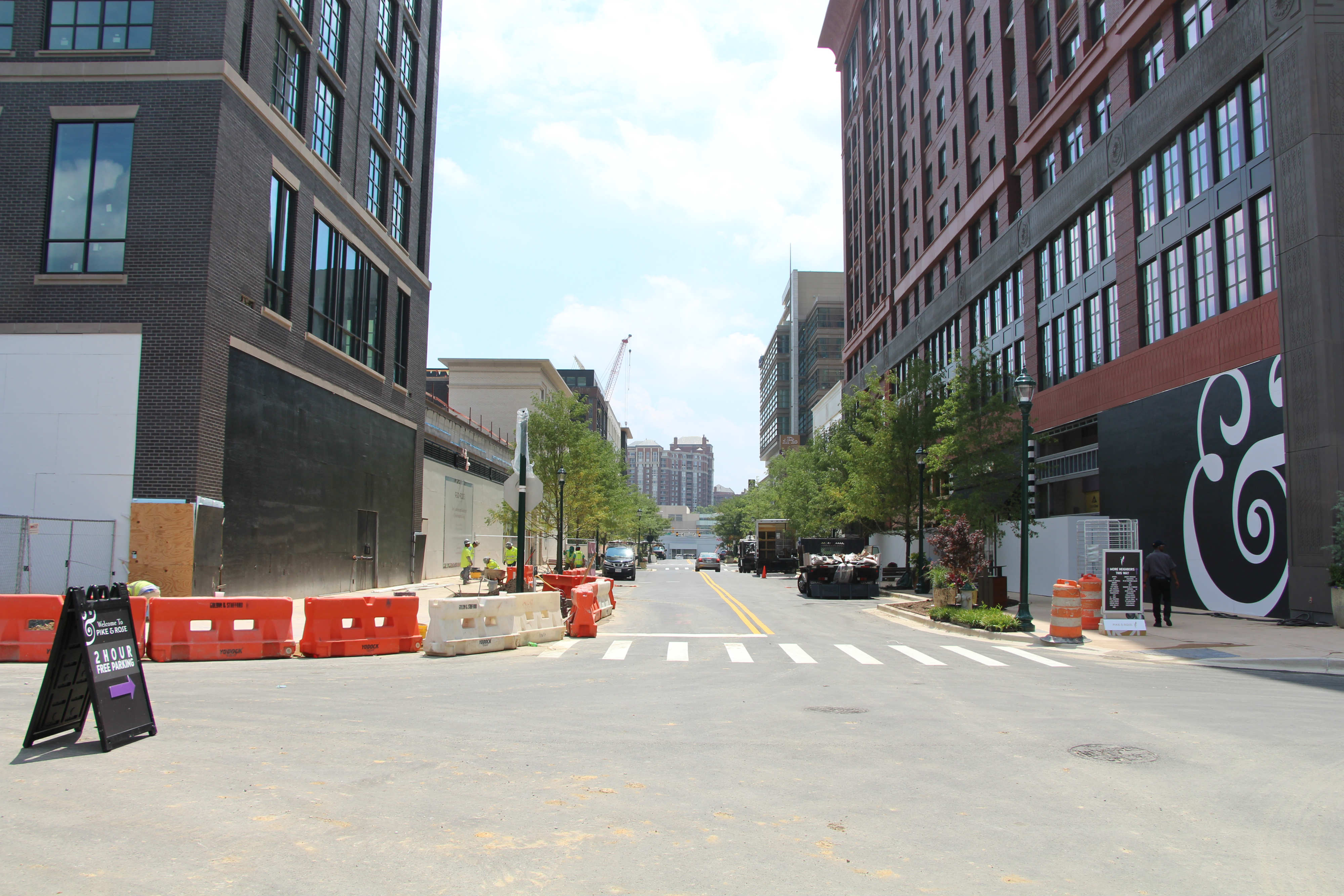 with open roads, park and new retail, pike & rose readies for more