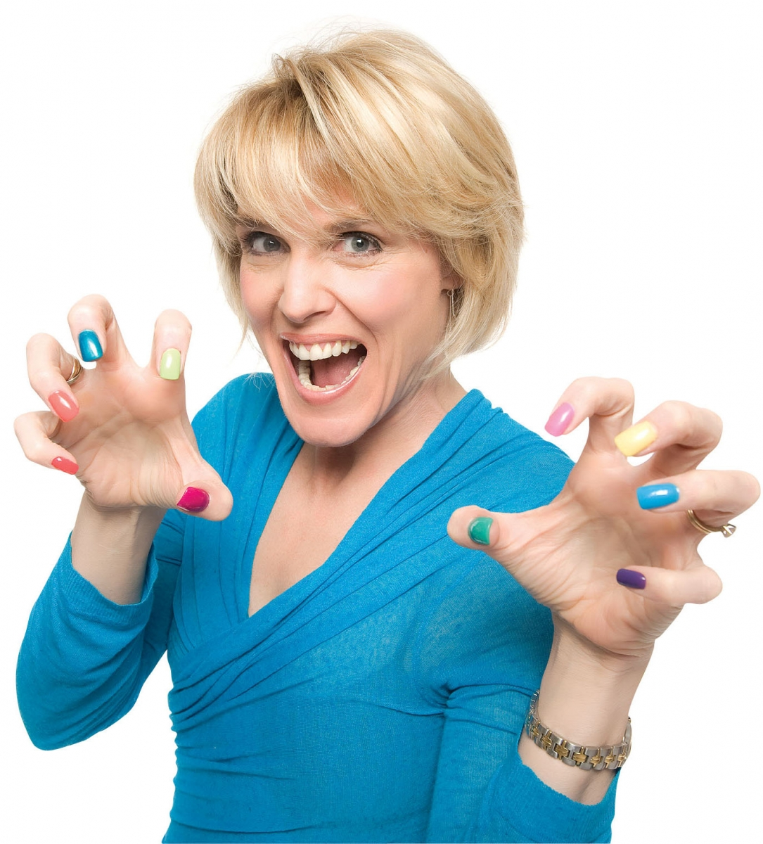 Caroline Miller, a local life coach and author, is a long-time customer of Acqua Nails. Photo credit: Erick Gibson