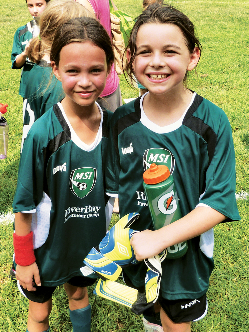 MSI soccer players Madeline Lewis and Hannah Byrne. Photo by Katherine Lewis