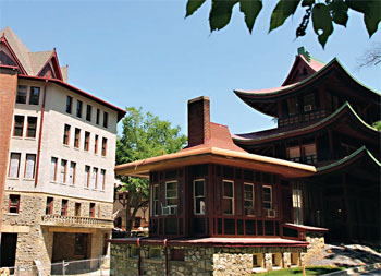 National Park Seminary is known for its eclectic mix of architectural styles.