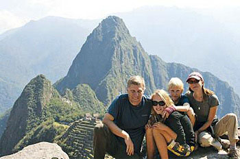 The family at Machu Picchu.