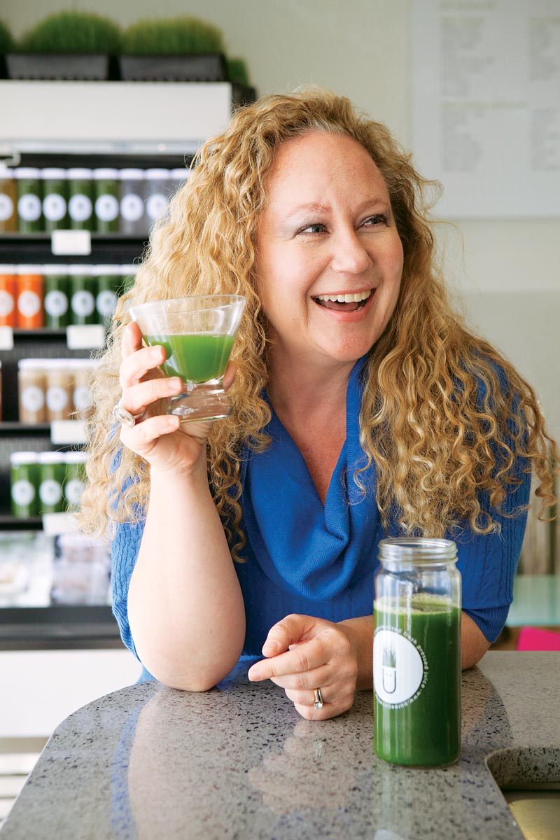 Purée Artisan Juice Bar owner Amy Waldman. Photo by Ezra Gregg