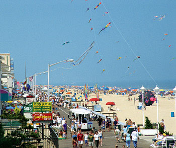 Ocean City has a boardwalk and three miles of amusements.