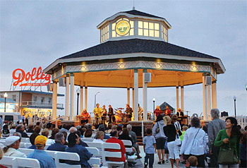 Rehoboth's boardwalk bandstand gets plenty of family concerts.
