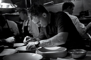 Voltaggio plates at Volt, the Frederick restaurant that earned him a James Beard nomination in 2010. Photo by Ken Goodman
