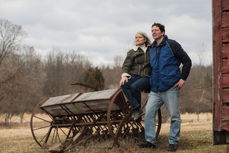 Stojic and her husband, Steve, a Washington attorney, enjoy a quiet moment at their farm in  Fairfield, Pa. Photo by Erick Gibson