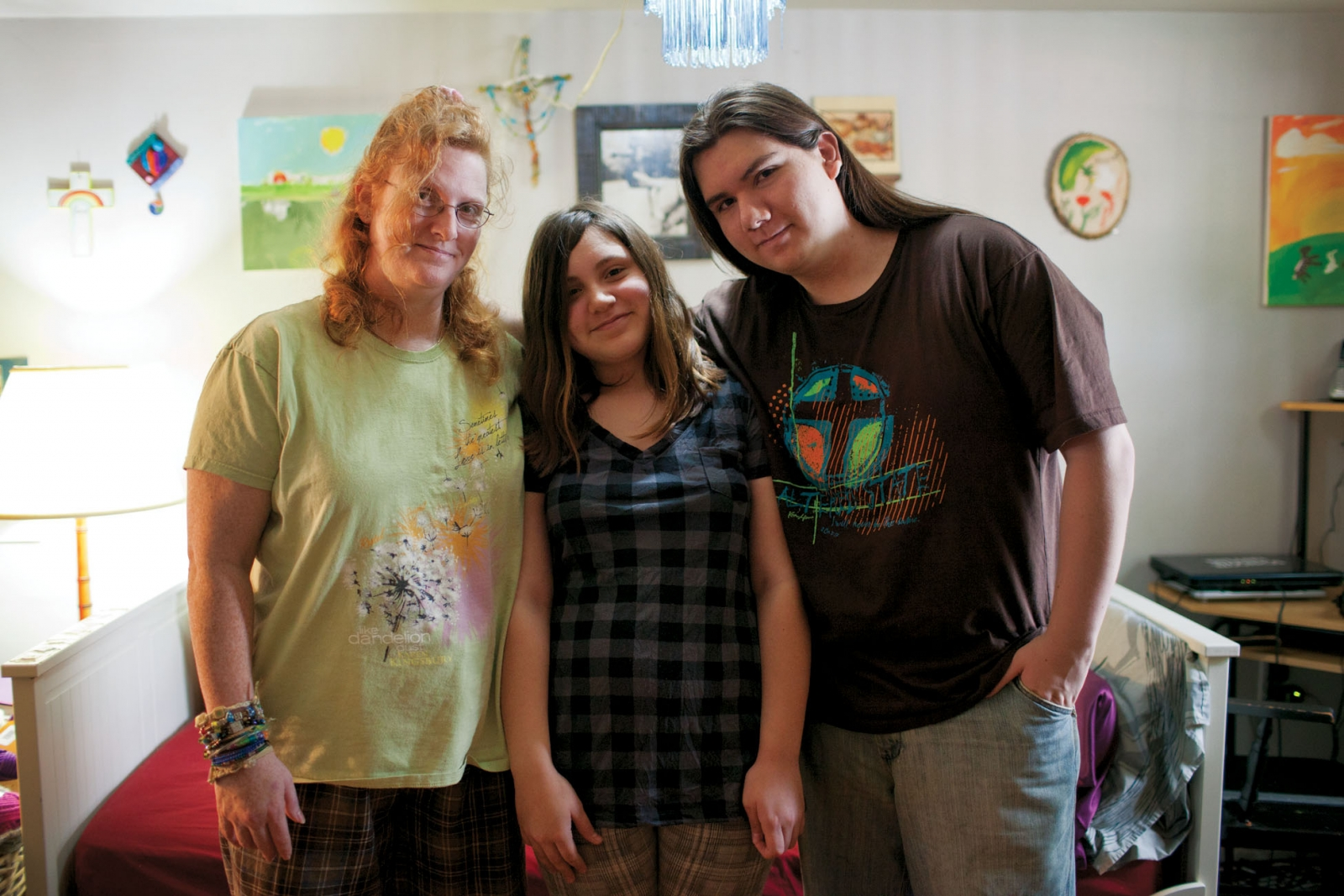 Hernandez, here with Samantha and Justin, says in August she got down to $23. Photo credit: Francis Tatem