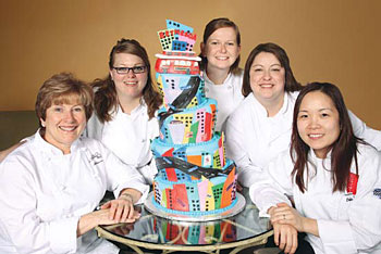 (Left to right) Marge Schinnerer, Lindsay Oldroyd, Maris Justusson, Monique Herrera, Linda Chen and (not pictured) Katie Martin