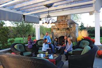 Holly Soistman's hangout. Pictured from left to right are: Kendall Soistman, Kelly Russell, Fran Soistman, Hassti Hamedi, Holly Soistman and daughter Carly.