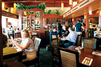 Seasons 52 features a warm interior with lots of nice touches.