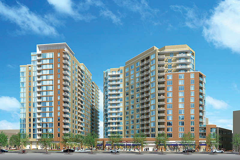 Gallery Bethesda will offer 234  apartments on Auburn Avenue. Courtesy Drawing.
