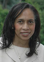 Karen Britto, a former chair of the Montgomery County Democratic Committee