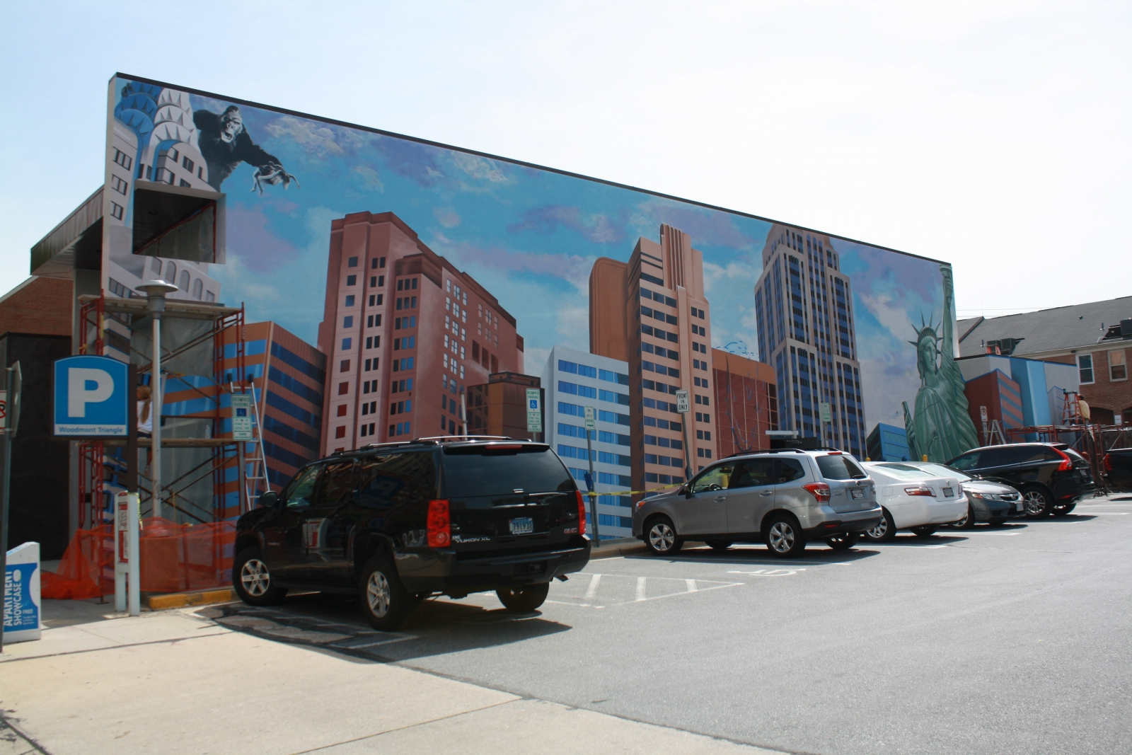 Business notes new york mural in bethesda nears for Construction mural