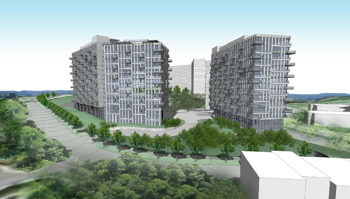 new images show apartment towers proposed for pooks hill in