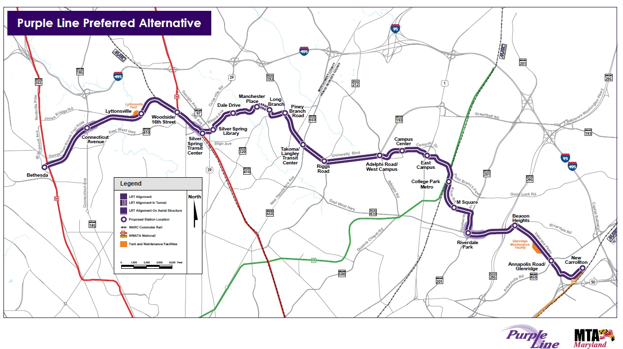 Seven Things To Know About The New Purple Line Agreement - Washington dc silver line map