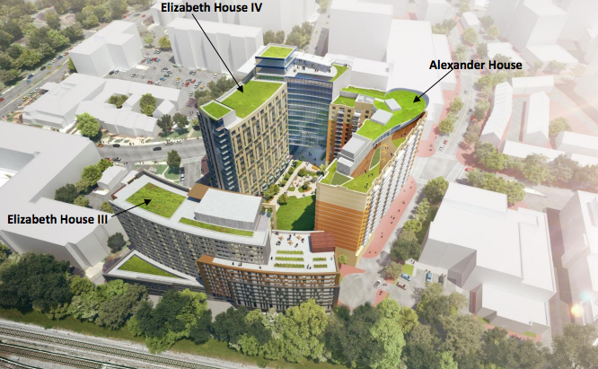Rendering Of The Planned Elizabeth Square In Downtown Silver Spring.  Credit: KGD Architecture